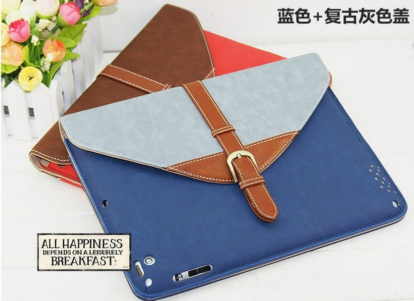 For ipad air 2 pu leather bag / unique envelope case for ipad air 2 accessories / luxury cover for ipad air 2 envelope case