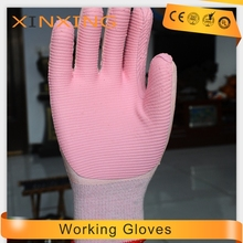 natural soft rubber film working safety gloves yellow CE en 388 en 420 malaysia manufacturer