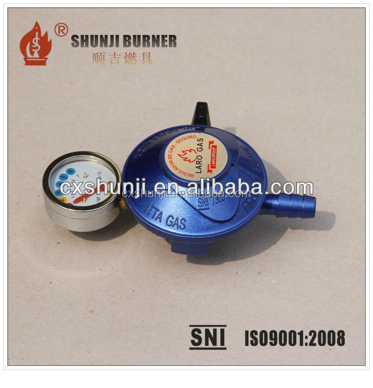 Blue Color Low pressure LPG Regulator with PVC LPG hose 20mm, 22mm, 27mm