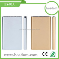 BS-80A hot selling 8000mah aluminium manual for power bank battery charger rohs