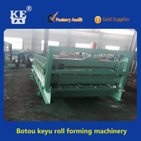 Keyu three-tier metal plate roll forming machine for roof panel and cladding