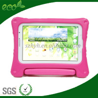 8 inch fancy silicone rubber handle EVA cover tablet EVA foam galaxy tablet case for samsung note