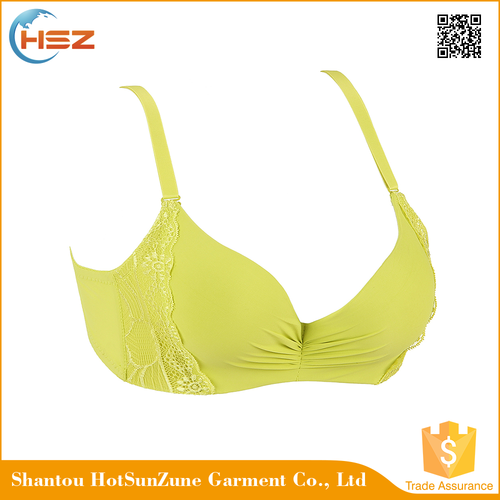 HSZ-58115 Wholesale Sex Beautiful Young Girl Embroidery Bra Mature Ladies Underwear Bras Push-up Design