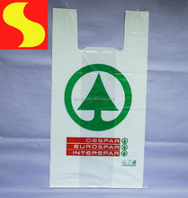 OEM Biodegradable HDPE custom printed plastic T-shirt shopping bag