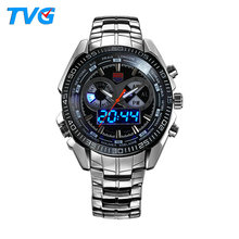 Most Hot Design TVG KM468 Band Changeable Watch Dual Display Chronograph Function Wrist Watches