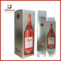 Custom cheap folding cardboard paper gift wine box packaging wholesale with different kinds of process