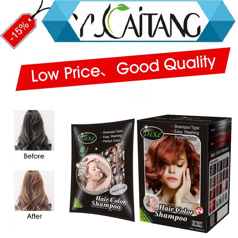Quick 5 Minutes Hair Darkening Shampoo For Gray Hair Herbal Dark ...