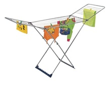 S/S 20m foldable cloth dryer rack with basket household