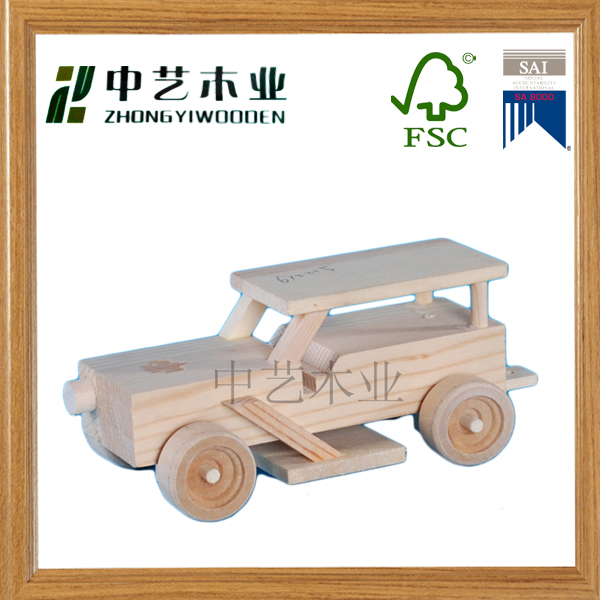 2015 most popular intellgence Education wooden car toy for kids