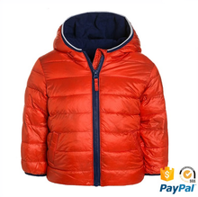 China wholesale rain fleece outdoor outer orange down padding jacket for men