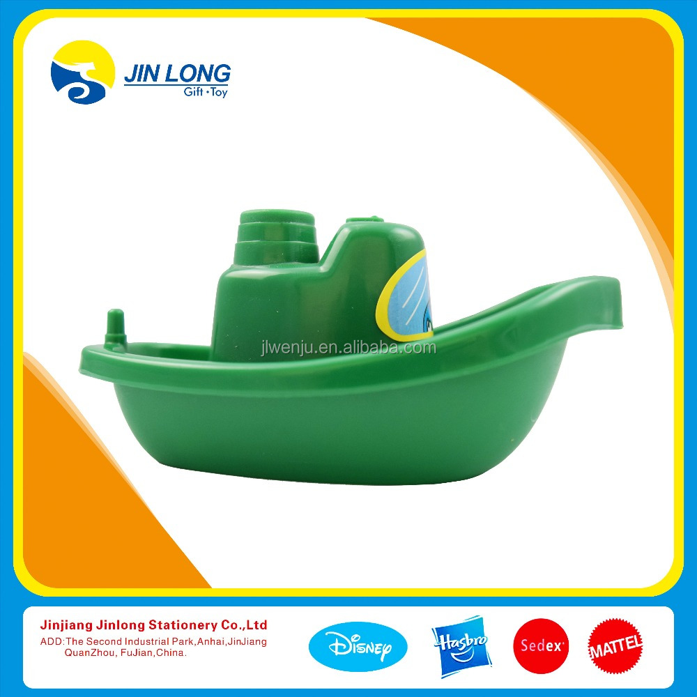 Cute mini promotional plastic toy ship for sale