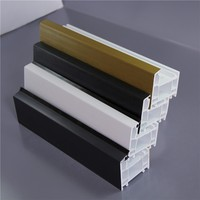 58 60 40 mm UPVC Window Frame Profile Sizes Casement Swing Plastic Extrusion Window Profile