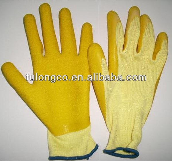 latex palm knit gloves