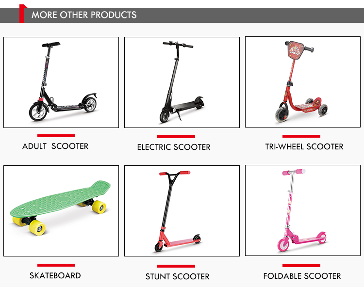 Wholesale 2 Wheel Foldable Standing Kick Foot Scooter, Portable Scooter With Foam Handle