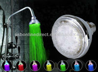 Adjustable Modle 7 Color Change LEDlight Bathroom Shower Head Faucet