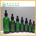 2014 Manufacture of wholesale glass bottles 5,10,15,20,30,50,100ml eliquid green glass bottles with childproof cap