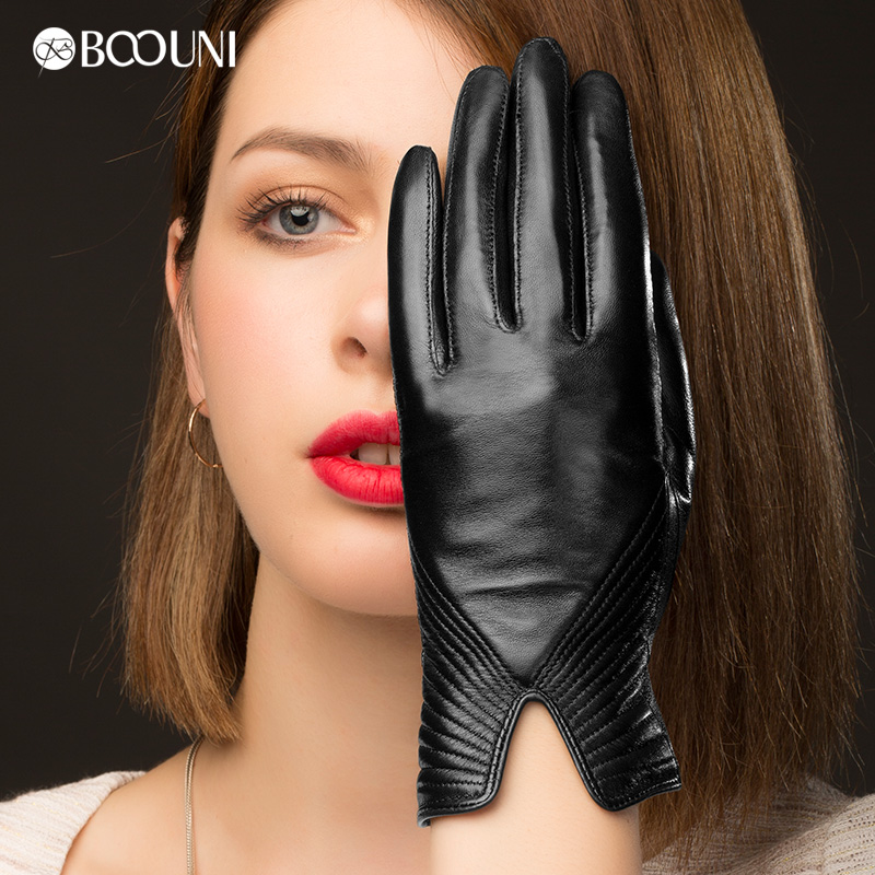 Ladies High Quality Leather Fashion Gloves Sex Bf