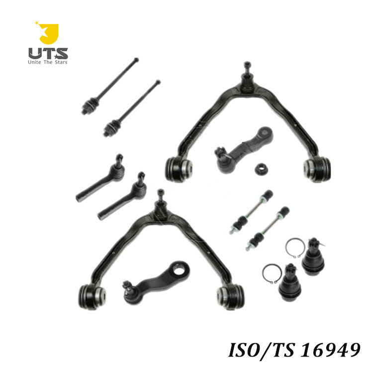 Auto spare parts car 12 Piece Kit Front LH RH Ball Joints Tie Rod Ends Sway Bar Link Pitman Idler Arm