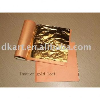 Gold leaf booklet packing genuine gold leaf ,furniture use italian imitation gold leaf