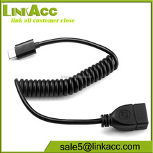LKCL24 USB 3.1 Type-C OTG Curled Cable USB3.1 A Female to Type-c Male cable