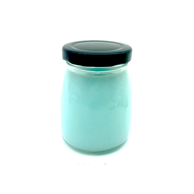 100ml sealed pudding glass jar with metal lid