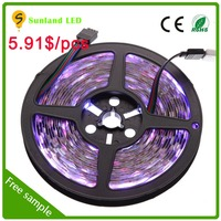 Non-waterproof IP20 SMD5050 60leds/m 12 volt ws2812b 144 led pixel strip for home