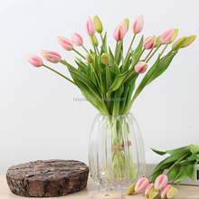 High quality Yongnuo 7 heads PU tulip silk artificial decorative flowers