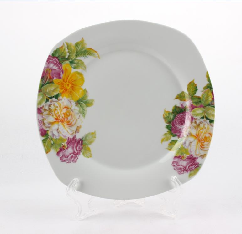 Wholesale Ceramic White Dinner Plate Porcelain Compartment Plate Buy Porcel