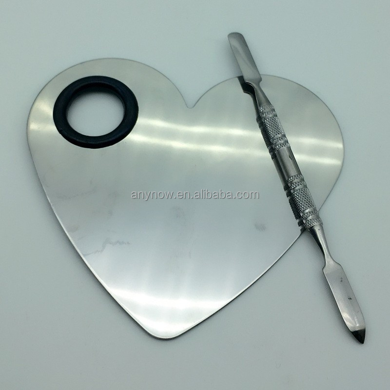 Custom Lgo Heart shape Makeup Cosmetic Palette and Spatula Set