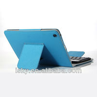 Blue Removable Wireless Bluetooth ABS Keyboard Folio PU Leather Case Cover Magnetic Smart Stand for iPad 2 New Apple iPad mini