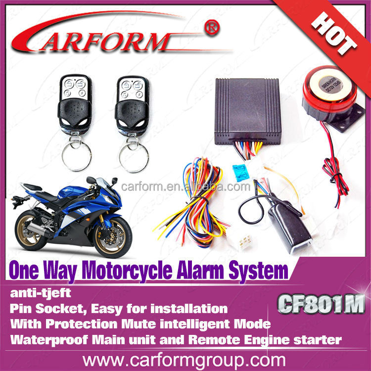 Auto parts 12V motorcycle alarm lock system with remote engine start