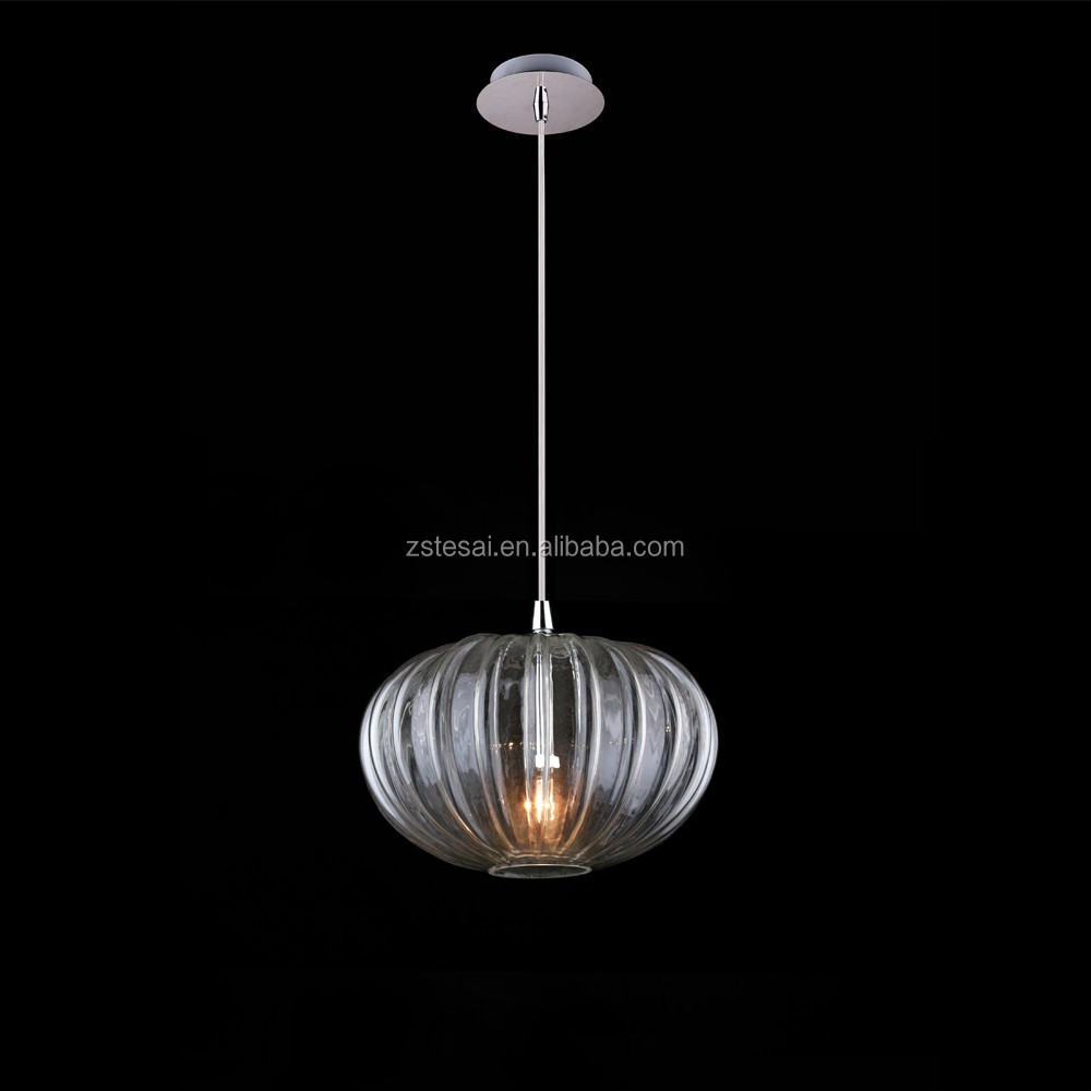 New products glass shade lighting decoration turkish lamp clear modern glass pendant lamp