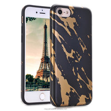 Gliding Marble Design Case Flexible Matte Soft TPU Bumper Silicone Skin Cover Case for iPhone 7