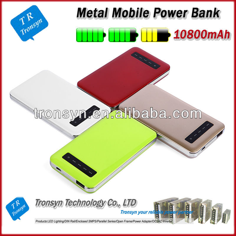 2013 hot selling 10800mah universal portable best power bank for Phone, iPod , Samsung, HTC and Nokia