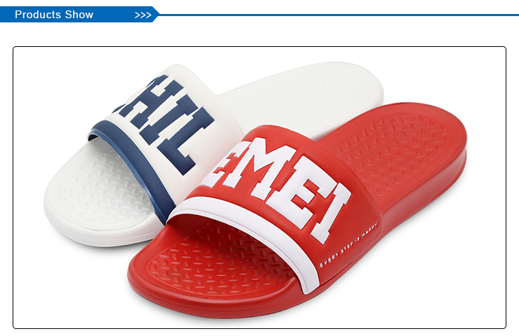 2018 new custom logo slide sandal for men slide