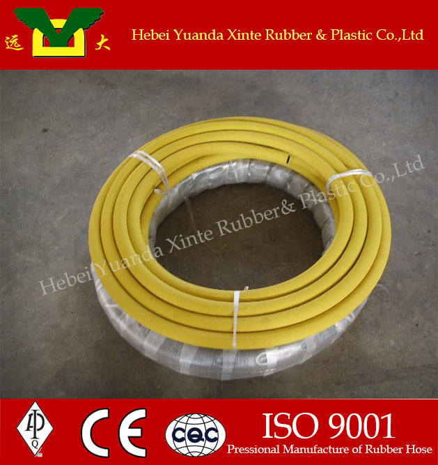 1.5 Inch Wire Reinforced Yellow Air Filter Rubber Hose