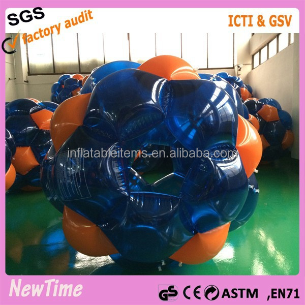 China manufacture inflatable ball suit, human body inflatable bubble ball