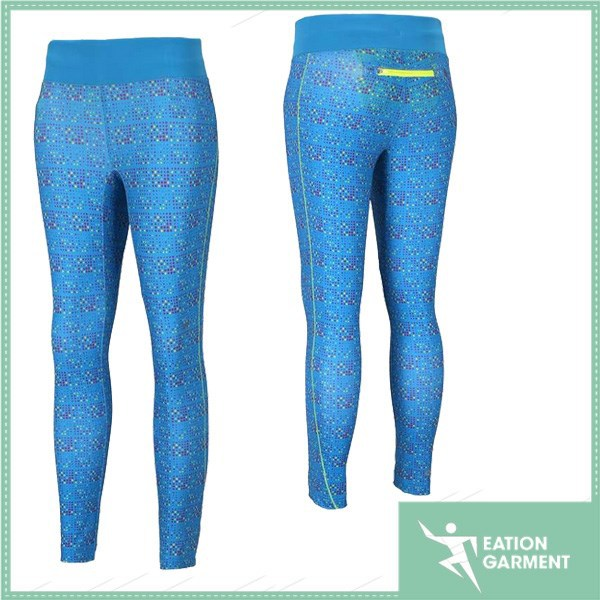 Fashion outdoor Ms running fitness pants Stretch printed