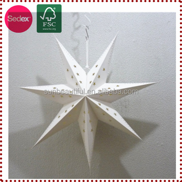 Hot Sale Lucky Paper Star Lantern as Xmas Promotional Gifts
