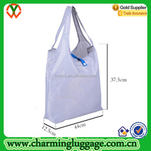 Solid Color Polyester Foldable Tote Bag with Snap Closure