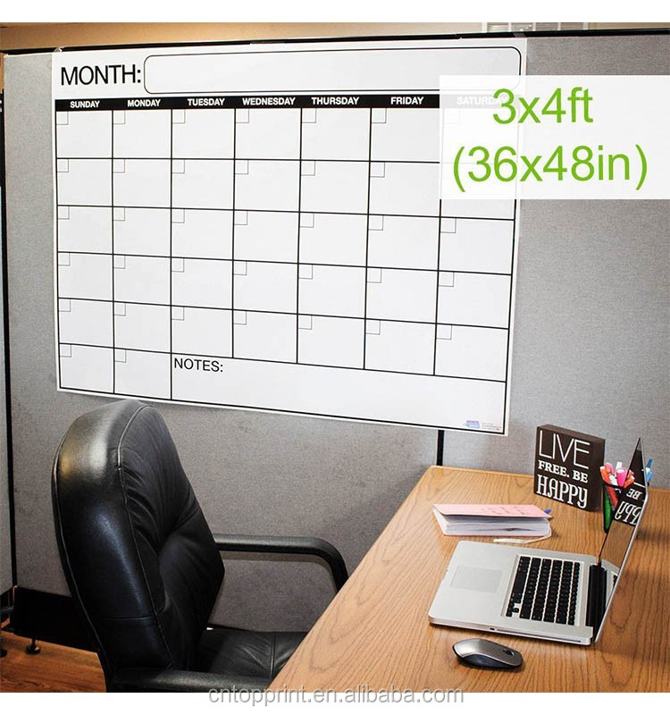 Dry Erase Large Laminated Wall Calendar