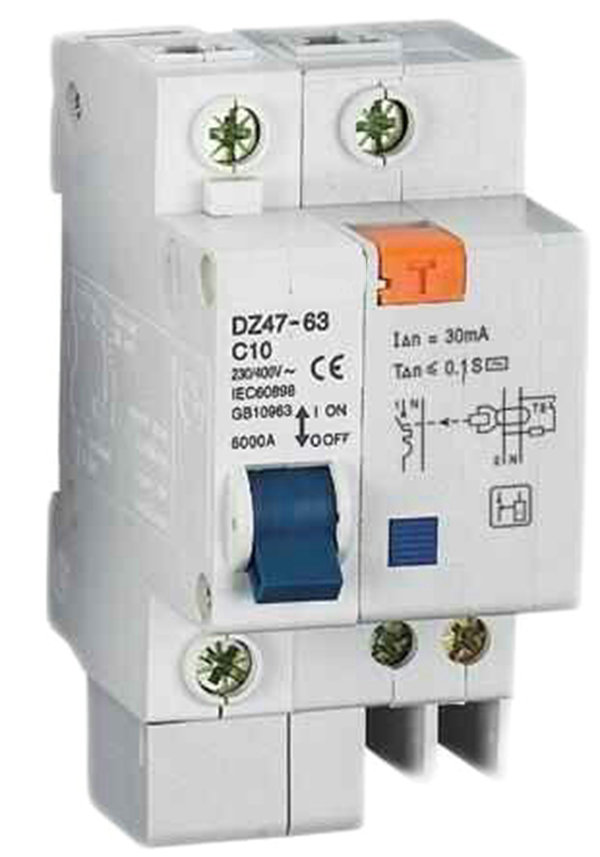 DZ47LE 1P+<strong>N</strong> 63A 230V residual current circuit breaker rcbo