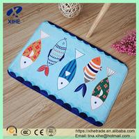Printed fish custom size memory foam for cat litter mat alibaba supplier