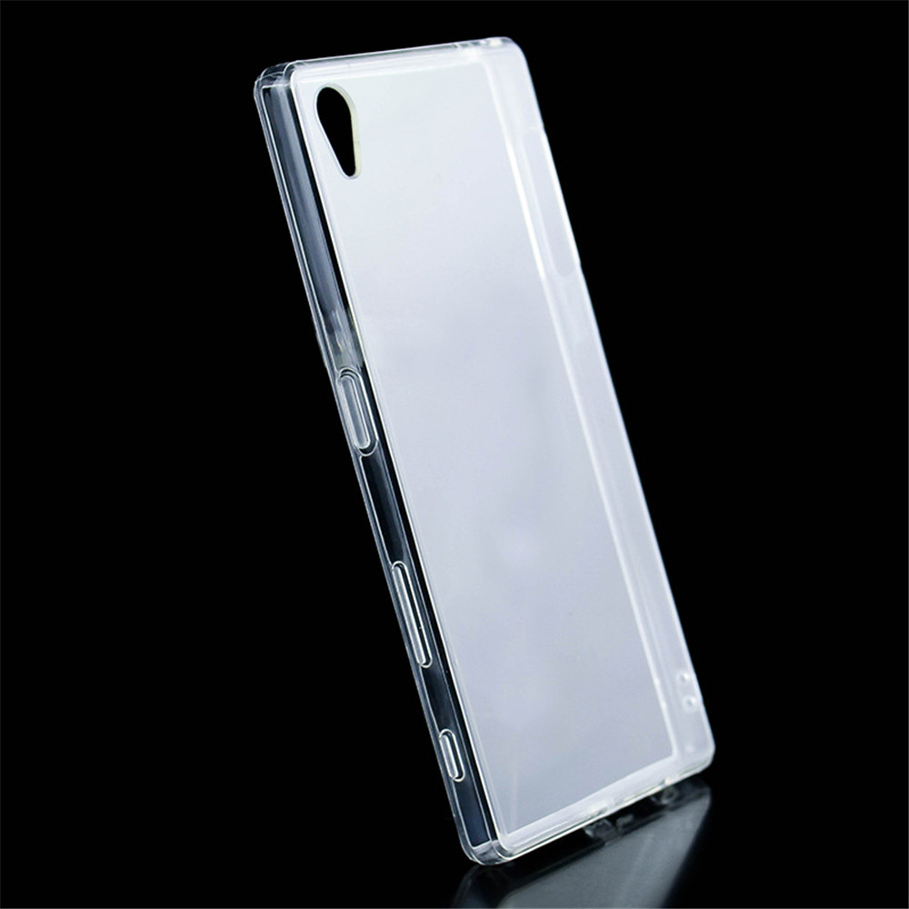 For Sony Xperia Z5 Leather Clear Tpu Cover Case