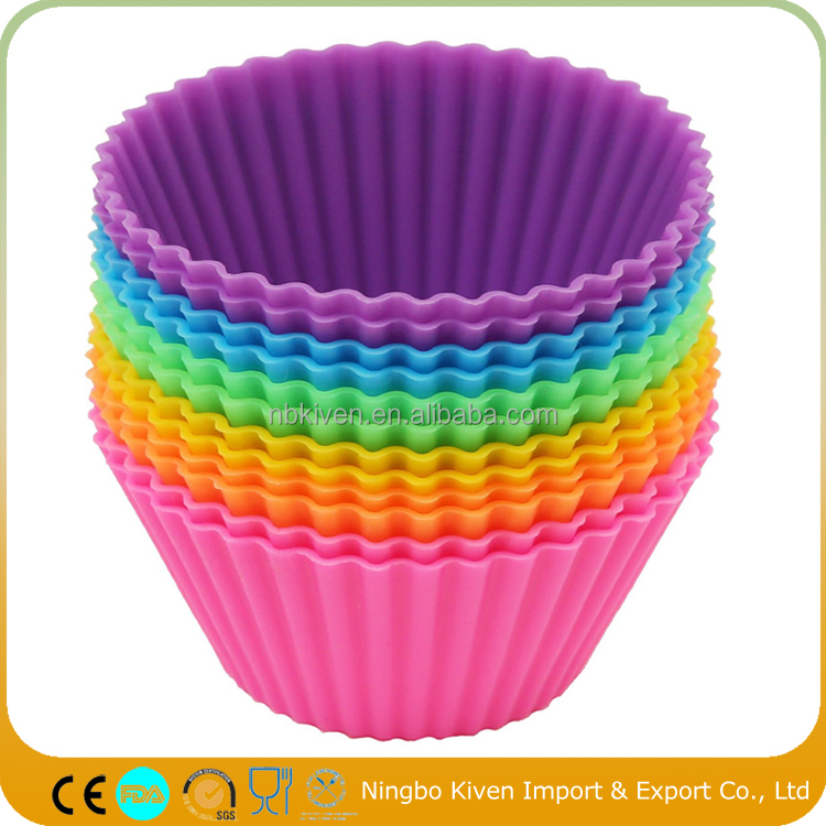 Different Designs Silicone Mini Muffin Pan Cake 6 12 24 Cups Cupcake Molds