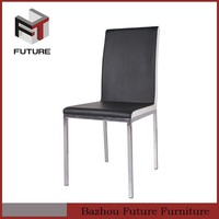 black lacquer dining room furniture metal chair