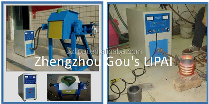 Tilting Type Gold And Silver Precious Metals Melting Induction Heating Furnace