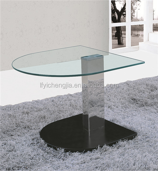 Modern Furniture Mirrored Bedside Table Glass Top Center Table Design