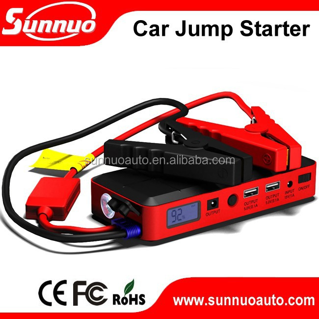 Newest(c) 12000mah mini portable multi function emergency car rechargeable jump starter