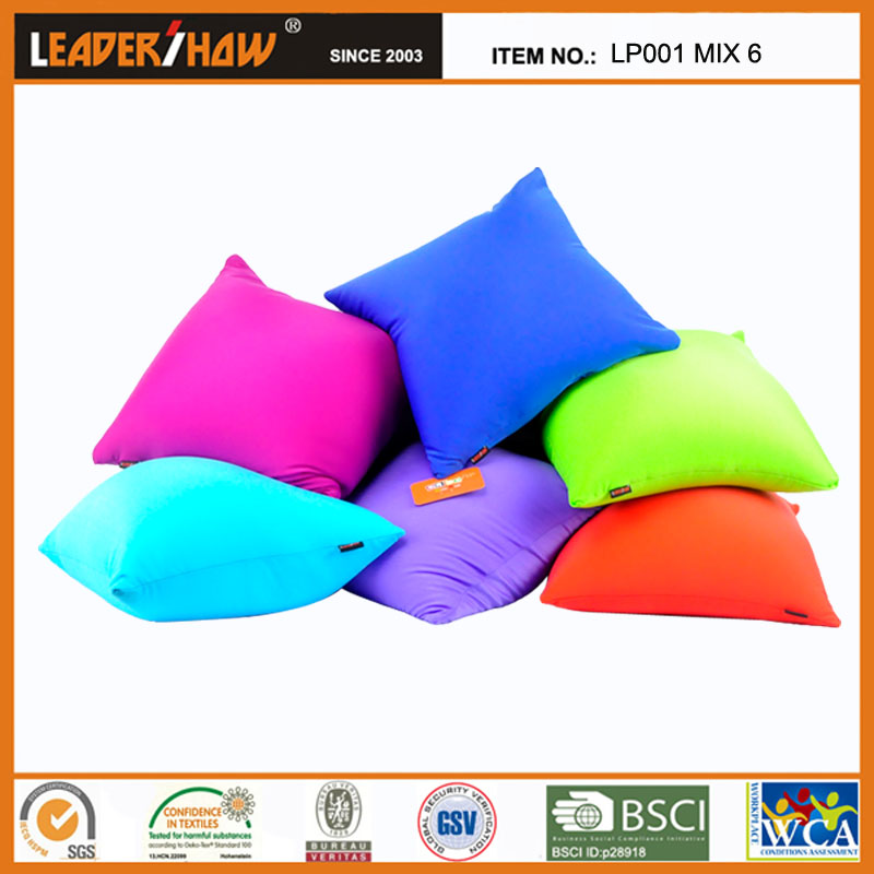 Solid Fabric Sleeping Square Pillow Sofa or Car Cushion from Zhejiang